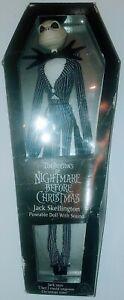 """Vintage Applause Jack Skellington Poseable Figure Doll 12"""" Nightmare Christmas"""