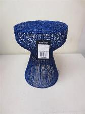 Safavieh Home Collection Tabitha Iron Chain Stool Dark Blue Seat Chair Modern