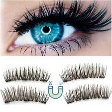 3D Unechte Wimpern mit 3 Magneten Magnetische Falsche Make-up Geschenk Eyelashes