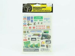 HO Scale Woodland Scenics DT556 Dry Transfer Decals - Logos & Advertising Signs