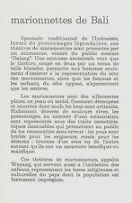 """SERIE 12 CP Marionnettes de BALI  """"Publicité Laboratoire FRAYSSE Nanterre-Paris"""""""
