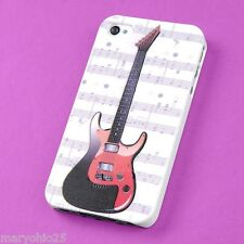 S  Colorful Bass Guitar Back Skin Hard Cover Case for Apple i-phone 4 4S 4G G S