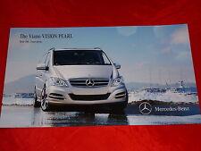 MERCEDES W639 Viano Vision Pearl concept car Studie Hochglanzprospekt von 2011