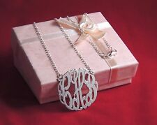 """Name Necklace(made in Usa)1.25"""" New Personalized SilverJewelry Monogram Initial"""