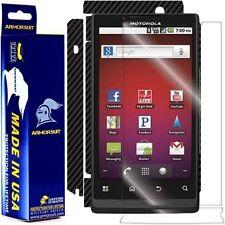 ArmorSuit MilitaryShield Motorola Triumph Screen + Black Carbon Fiber Skin! New!
