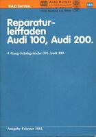 Audi 100 200 Reparaturleitfaden 1981 2/81 Schaltgetriebe 092 Reparaturanleitung
