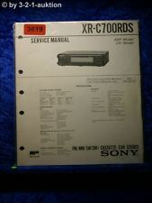 Sony Service Manual XR C700RDS Cassette Car Stereo (#3619)