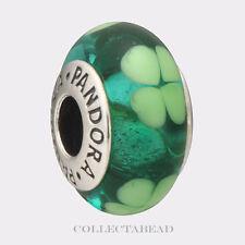 Authentic Pandora Sterling Silver Murano Kiss Me I'm Irish Bead 790927