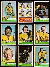 1974 O-Pee-chee Team SET Lot of 18 Calif GOLDEN SEALS EX/MT OPC MELOCHE PATRICK