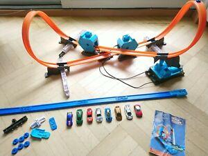 Hot Wheels Bahn, Track Builder System, mit 8 Autos