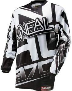 O`Neal Oneal Element Jersey  weiss  schwarz Enduro Cross  DH Freeride BMX Gr. M