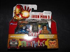 IRON PATRIOT and EXTREMIS SOLDIER 2 MARVEL MINIMATES FIGURES NEW SEALED L@@K