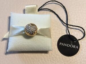 NEW Authentic Pandora ALE Love Of My Life Clip Bead 14K Gold 585 Charm 750832