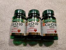 3 bottles Nature's Bounty Co Q-10 100mg 135  Rapid Release Softgels  exp 05/22