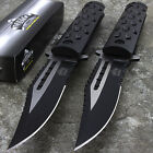 """2 x 8.75"""" MASTER USA 2-TONE SPRING ASSISTED TACTICAL FOLDING POCKET KNIFE Open"""
