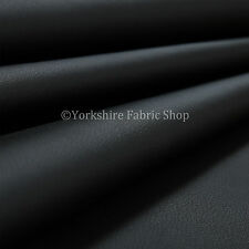 10 Metres Of Heavy Duty Matt Finish Soft Black Faux Leather Upholstery Fabric