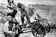 New 5x7 World War II Photo: Captured Japanese Gun by U.S. Marines in Saipan