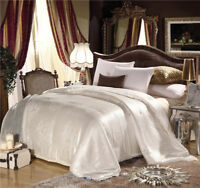 100% Mulberry Silk White Lilac Winter US Twin Full Queen King Comforter Quilt