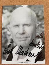 Lutz Mackensy original signierte Autogrammkarte Rüdel Verlag