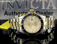 NEW Invicta Men's Pro Diver SUBMARINER  GOLDEN DIAL 2 TONE Stainless Steel Watch