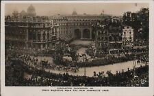 1911 George V Coronation New Admiralty Arch London Vast Crowds Rooftops AL.220