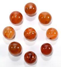 20mm Orange Carnelian Agate Sphere Polished Crystal Mineral Ball Madagascar 1PC