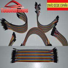 10x  macho a macho Jumper Cable electronica robotica arduino 20cm 2,54 soldar