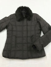 Dollhouse Quilted Puffer Jacket Brown Faux Fur Collar Women's Juniors Size S