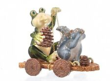 Frog & squirrel trinket box hand made by  Keren Kopal with Austrian crystals