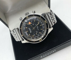 Vintage Accurist 300 Divers Chronograph Watch SERVICED + Warranty -beads of rice