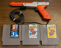 Vintage Super Mario Bros 1 2 3 Duck Hunt Zapper Gun Nintendo NES Video Game Lot