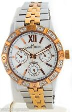 Anne Klein Women's White Dial Duo Rose Gold-tone Watch AK/1001MPRT