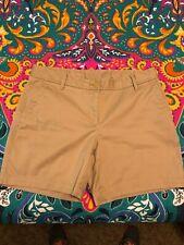 Womens Talbot's Khaki beige Girlfriend chino shorts size 8 Petite