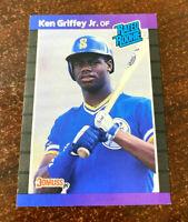 KEN GRIFFEY JR. 1989 Donruss #1 Draft Pick RATED Rookie Card RC Mariners HOF $$$