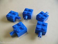 Lego 5 brique bleu a/clip 6985 6973 347 6926 / 5 blue brick modified w/pins