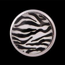 ANDANTE Druckknopf Click Button CHUNK Zebra Zoo Schwarz Weiß #4300 + GESCHENK