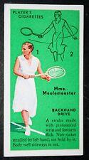 Tennis  Meulemeester   Belgium    Original Vintage Action Card