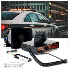 Xprite 200W 8 Sound Loud Car Warning Alarm Police Fire Siren Horn PA Speaker MIC