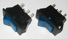 2 X Swann Industries Illuminated Rocker Switch Spst 125v 15a Lighted Blue