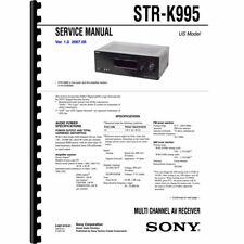 Sony STR-K995 Stereo Receiver Service Manual (Pages: 74) 11x17 Drawings
