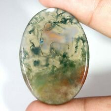 100% NATURAL Green & Red Moss Agate Transparent Oval Cabochon Loose Gamstone