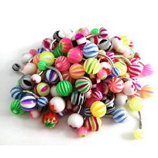 50Pcs Bulk Ball Belly Button Ring Navel Rings Bar Body Piercing Jewelry