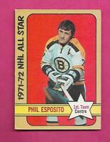 1972-73 OPC # 230 BRUINS PHIL ESPOSITO AS  HIGH # VG+  CARD (INV# C7973)