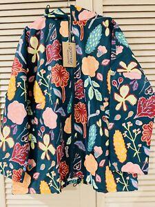 "New! Pretty GORMAN ""Pitched Petal"" raincoat coat jacket * size S/M"