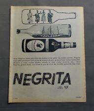 PUB PUBLICITE ANCIENNE ADVERT CLIPPING 050717 / RHUM NEGRITA BARDINET BORDEAUX
