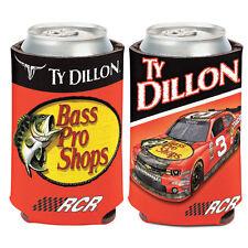 Ty Dillon Bass Pro Shop Can Cooler 12 oz. NASCAR Koozie