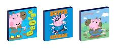 """GEORGE PIG peppa 10"""" x 10"""" CANVAS PICTURE SET"""