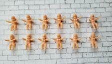 12 Vintage Dollhouse Miniature Plastic Baby Dolls Dollhouse Shower Crafts NOS
