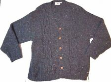 Fisherman out of Ireland Cardigan Sweater Sz 2XL Charcoal Gray Cable Knit V Neck