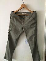Khaki green & trousers/cargo pants - W29
